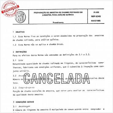 NBR6345 de 05/1985