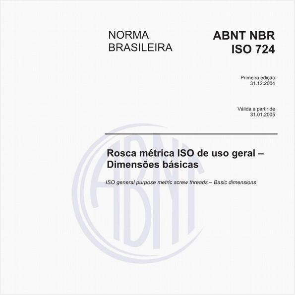 Rosca métrica ISO de uso geral - Dimensões básicas