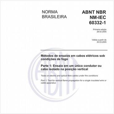NBRNM-IEC60332-1 de 02/2005