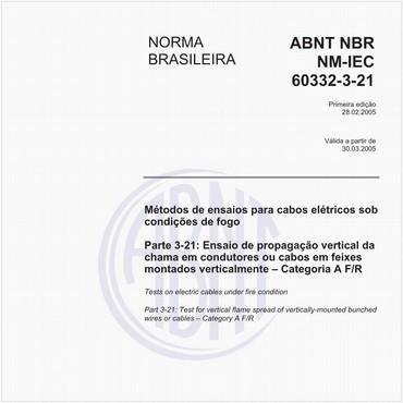 NBRNM-IEC60332-3-21 de 02/2005