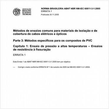NBRNM-IEC60811-3-1 de 02/2005