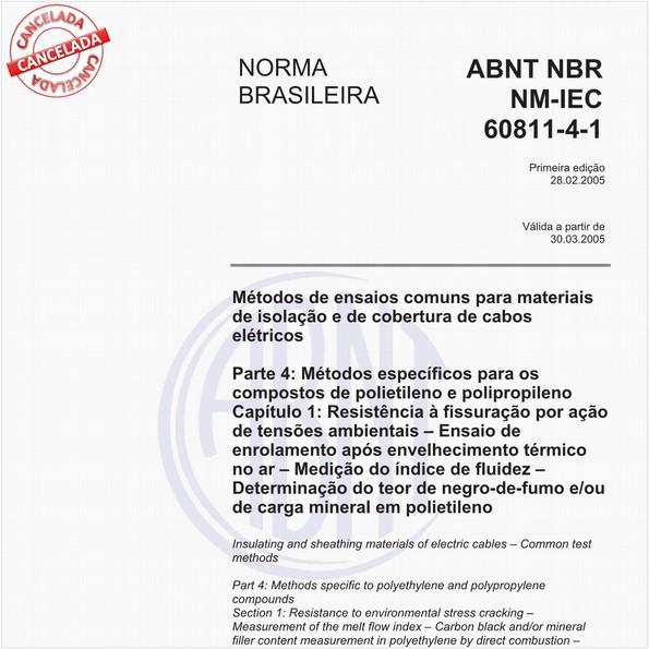 NBRNM-IEC60811-4-1 de 02/2005