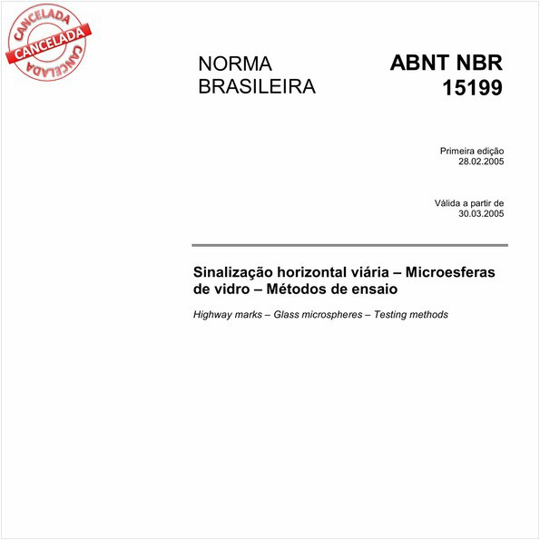 Sinalização horizontal viária - Microesferas de vidro - Métodos de ensaio