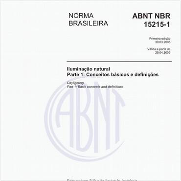 NBR15215-1 de 03/2005