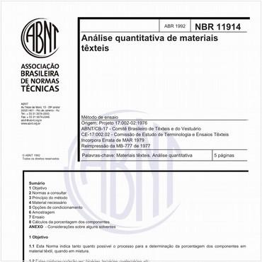NBR11914 de 04/1992