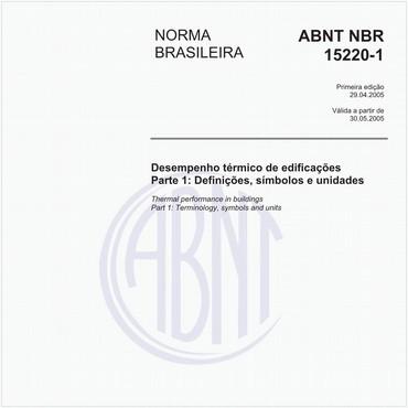 NBR15220-1 de 04/2005