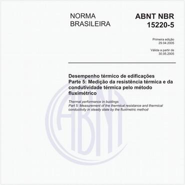 NBR15220-5 de 04/2005