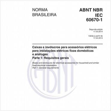 NBRIEC60670-1 de 03/2014