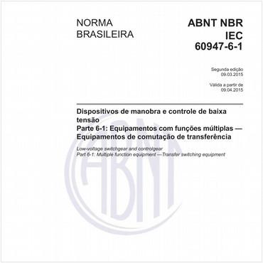 NBRIEC60947-6-1 de 03/2015