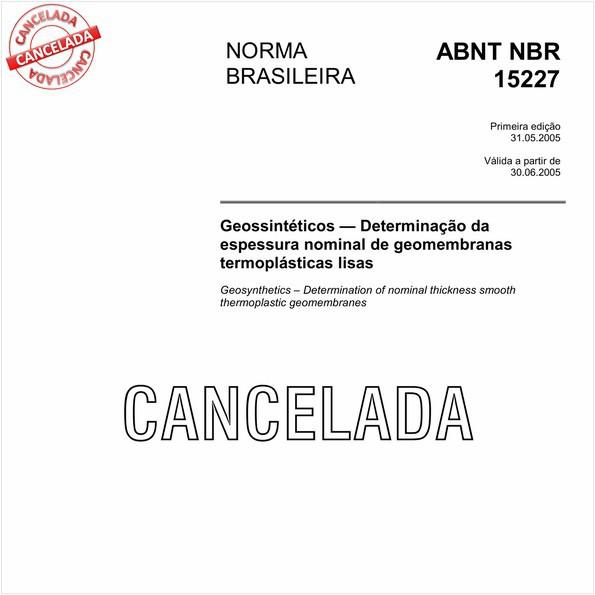 NBR15227 de 05/2013