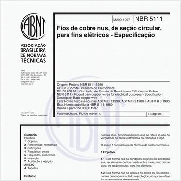 NBR5111 de 05/1997