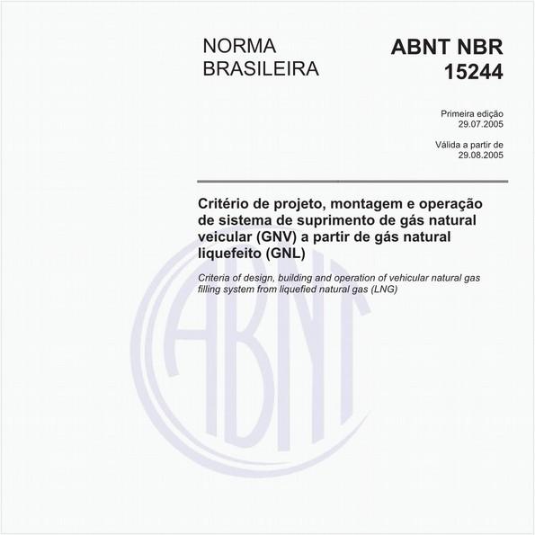 Critério de projeto, montagem e operação de sistema de suprimento de gás natural veicular (GNV) a partir de gás natural liquefeito (GNL)
