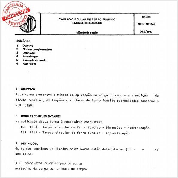 NBR10159 de 09/2005