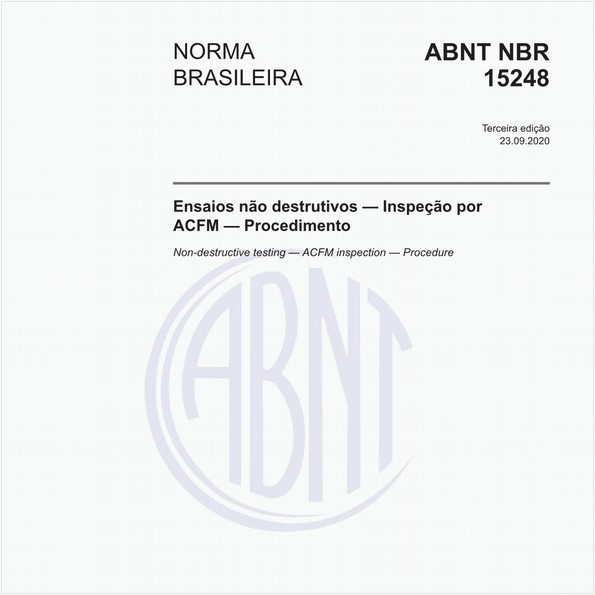 Ensaios não destrutivos — Inspeção por ACFM — Procedimento