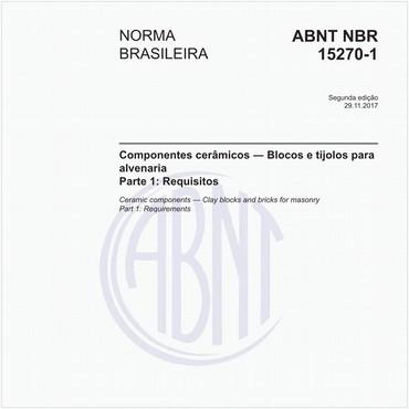 NBR15270-1 de 11/2017