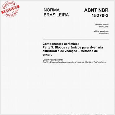 NBR15270-3 de 08/2005