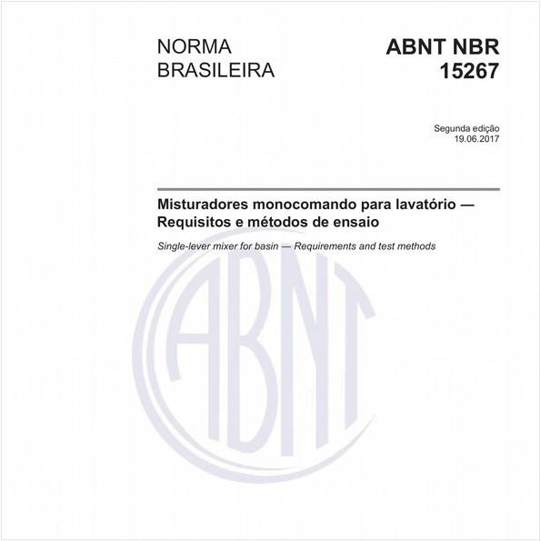 Misturadores monocomando para lavatório - Requisitos e métodos de ensaio