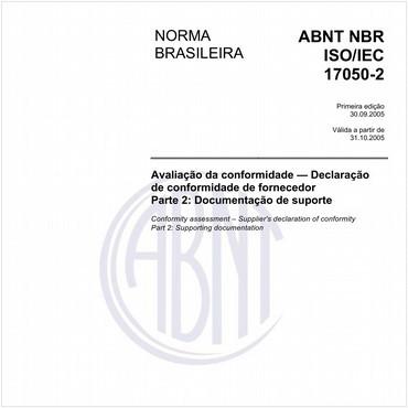 NBRISO/IEC17050-2 de 09/2005