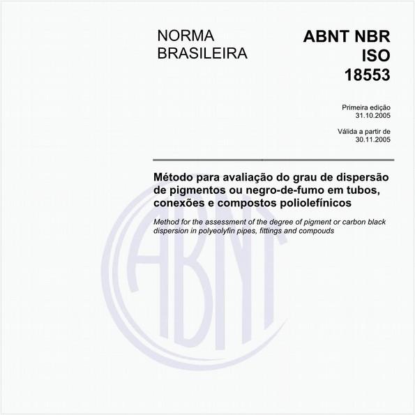 Método para avaliação do grau de dispersão de pigmentos ou negro-de-fumo em tubos, conexões e compostos poliolefínicos