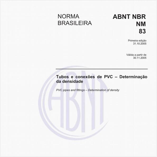 Tubos e conexões de PVC - Determinação da densidade