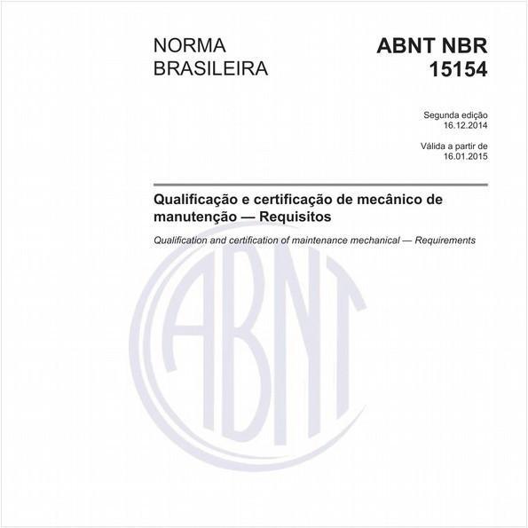 Qualificação e certificação de mecânico de manutenção - Requisitos