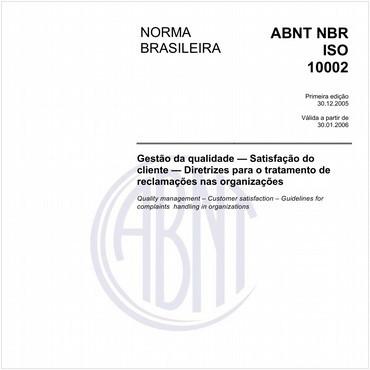 NBRISO10002 de 12/2005