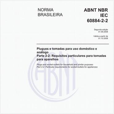 NBRIEC60884-2-2 de 09/2008