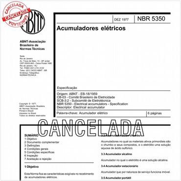 NBR5350 de 12/1977