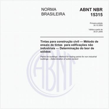 NBR15315 de 12/2005