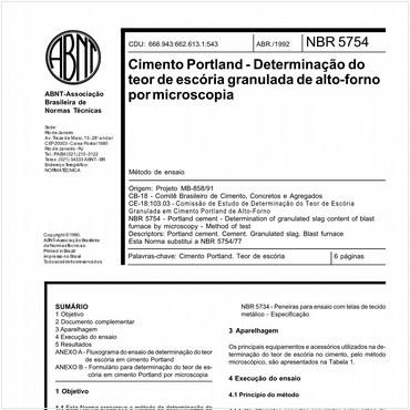 NBR5754 de 04/1992