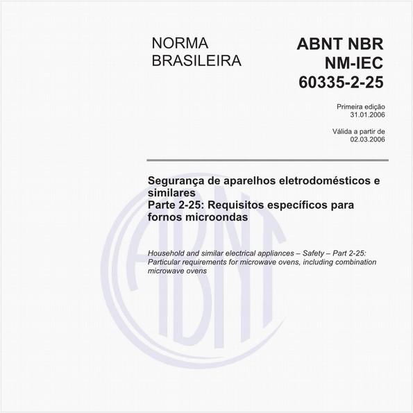 NBRNM-IEC60335-2-25 de 01/2006