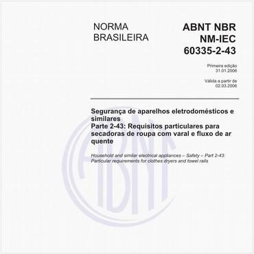 NBRNM-IEC60335-2-43 de 01/2006