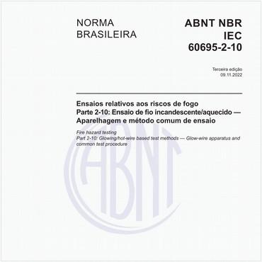NBRIEC60695-2-10 de 12/2015
