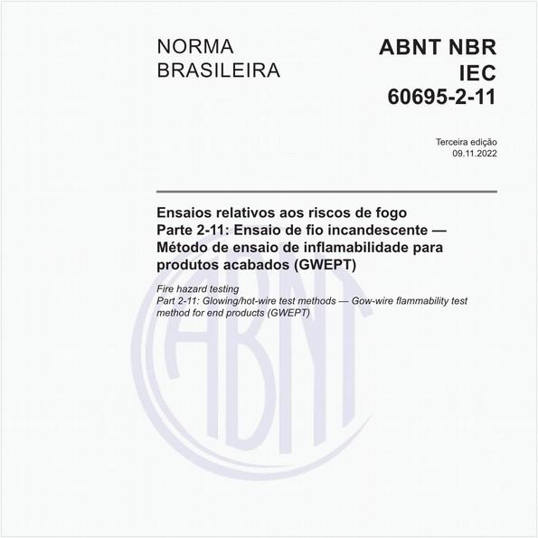 NBRIEC60695-2-11 de 04/2016