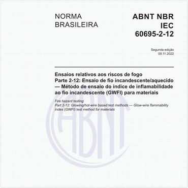 NBRIEC60695-2-12 de 12/2013