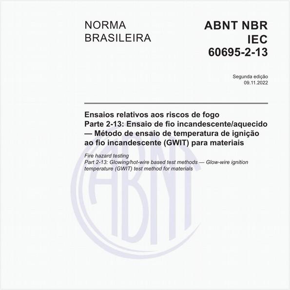 NBRIEC60695-2-13 de 12/2013