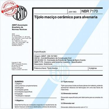 NBR7170 de 06/1983