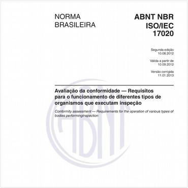 NBRISO/IEC17020 de 08/2012