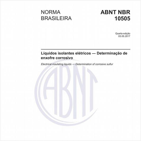 Líquidos isolantes elétricos - Determinação de enxofre corrosivo