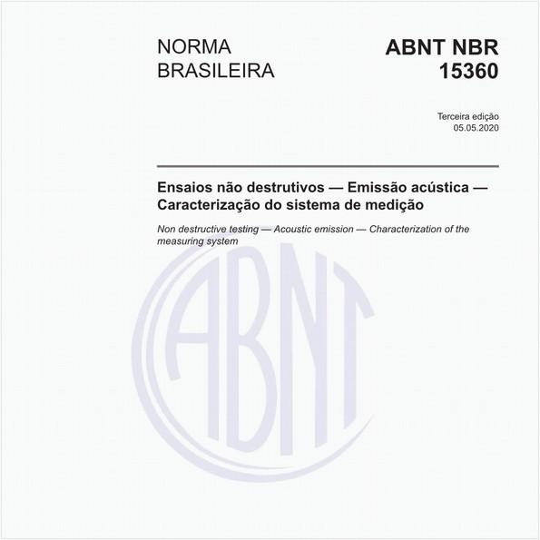 Ensaios não destrutivos — Emissão acústica — Caracterização do sistema de medição