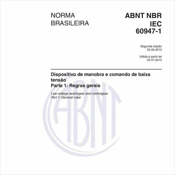 NBRIEC60947-1 de 06/2013