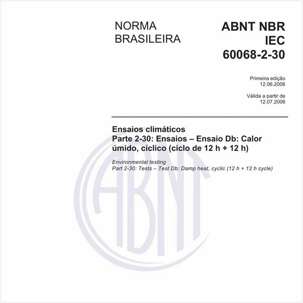 NBRIEC60068-2-30 de 06/2006