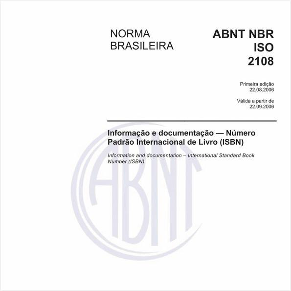 Informação e documentação - Número Padrão Internacional de Livro (ISBN)