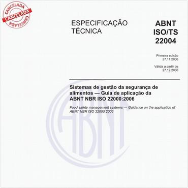 ABNT ISO/TS22004 de 11/2006