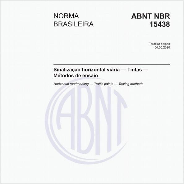 Sinalização horizontal viária — Tintas — Métodos de ensaio