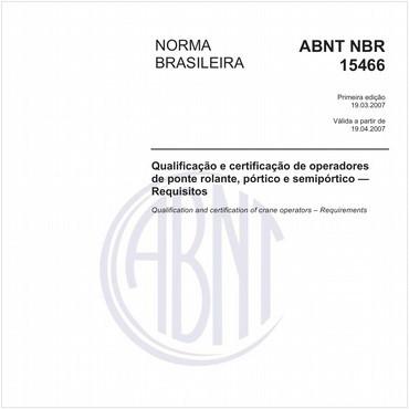 NBR15466 de 03/2007