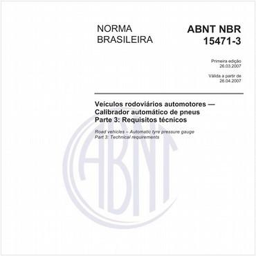 NBR15471-3 de 03/2007