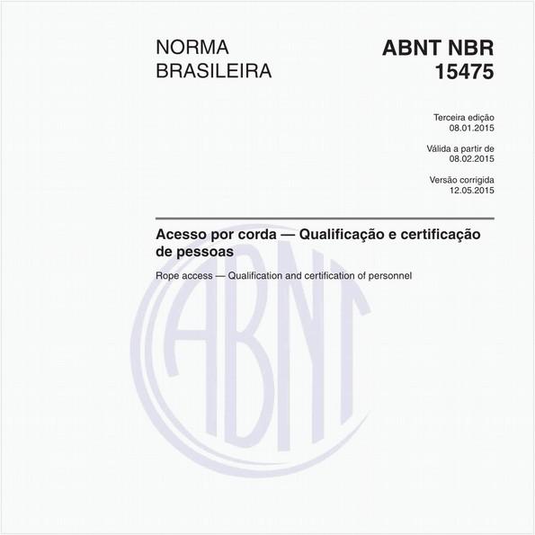 Acesso por corda — Qualificação e certificação de pessoas