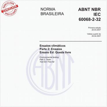 NBRIEC60068-2-32 de 03/2007