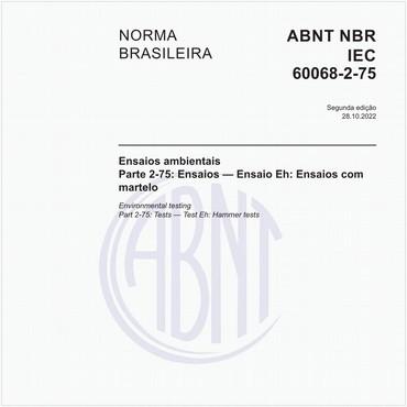 NBRIEC60068-2-75 de 03/2007